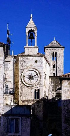 Saint Domnius Bell Tower in Split, Croatia. The Cathedral of Saint Domnius, consecrated at the turn of the 7th century AD, is regarded as the oldest Catholic cathedral in the world that remains in use in its original structure, without near-complete renovation at a later date. The structure itself, built in AD 305 as the Mausoleum of Diocletian, is the second oldest structure used by any Christian Cathedral.