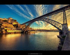 The Iron Lady (D. Luís bridge by Eiffel), Douro River, Oporto, Portugal Spain And Portugal, Portugal Travel, The Iron Lady, Sea Activities, Dawn And Dusk, Cities, Historical Sites, How To Take Photos, Beautiful World