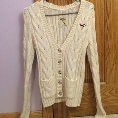 Hollister sweater Long sleeve- Button down sweater with pockets- Hollister size small Hollister Sweaters V-Necks