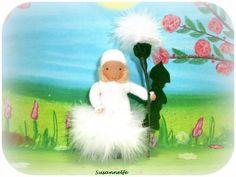 Pusteblume Blumenkinder Jahreszeitentisch von Susannelfes Blumenkinder  auf DaWanda.com