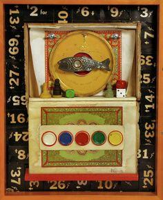 Ruth Fiege, fish box, assemblage box