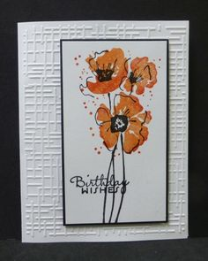 FS320 Poppies by hobbydujour - Cards and Paper Crafts at Splitcoaststampers
