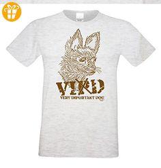 Geschenk für Katzen-Hunde-Freunde :-: Motiv T-Shirt Katzen :-: VID :-: Geschenkidee für Tier-Freunde zum Geburtstag Vatertag Weihnachten :-: Farbe: grau Gr: XL (*Partner-Link)