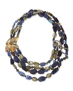 Tressage Multi-Stone Necklace by Alexis Bittar at Neiman Marcus.
