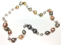 Baroque Freshwater and Silver Pearl by GinnyTaylorDesigns on Etsy, $400.00