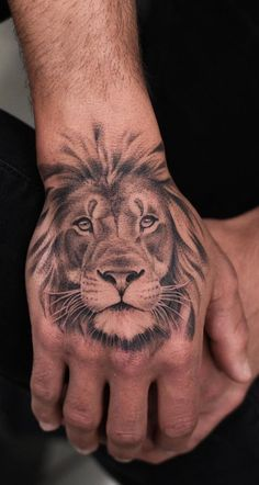50 eye-catching lion tattoos that make you want to ink - cool lion tattoo . - 50 eye-catching lion tattoos that make you want to ink – cool lion tattoo on hand © tattoo artis - Tiger Hand Tattoo, Lion Forearm Tattoos, Side Hand Tattoos, Lion Head Tattoos, Mens Lion Tattoo, Hand Tattoos For Guys, Hand Tats, Tattoos For Hands, Small Tattoos On Hand