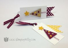 Stampin up mary fish stamp it pretty order holiday christmas tag petite pennants builder punch parade
