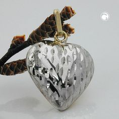 Anhänger, Herz diamantiert, 9Kt GOLD accessorize24-431293