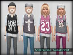 The Sims Resource: Sweater Vest by ShojoAngel • Sims 4 Downloads