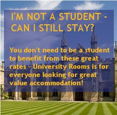 You don't have to be a student to book through UniversityRooms!