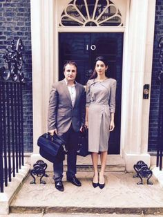 Amal Clooney and Ahmed Khudida Burjus, deputy executive director of Yazda, have met with senior advisors to British Prime Minister David Cameron and representatives of the Foreign