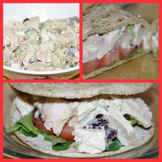 Chicken Salad on Hungry Girl Foldit Flatbread