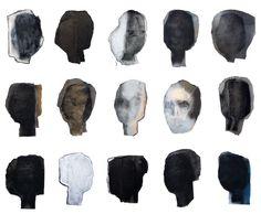 Large Abstract Art Print Poster Black and by BorianaMihailovska