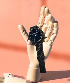 Mr. Boho black watch. Designed in Spain. • Černé celokovové hodinky Mr. Boho.  #watches #blackwatch #mrboho #hodinky #5to12watches Boho, Metallica, Watches, Vintage, Wristwatches, Bohemian, Clocks, Vintage Comics
