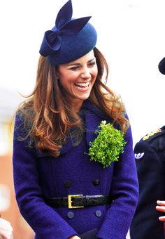 The British Sunshine - Kate Middleton :) SOMEONE SERIOUSLY TWEEKED THE COLOR OF THIS COAT AND HAT.