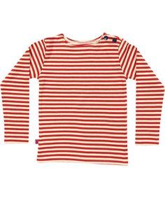 Albababy schattige rood/wit gestreepte t-shirt met knoopjes. albababy.nl.emilea.be
