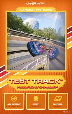 Walt Disney World Planning Pins: Design a virtual concept vehicle and then go for a high-octane spin at this attraction that's thrilling and creative.
