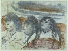 Drie vrouwen in een bordeel, Edgar Degas, 1877 - 1881