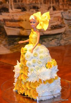 FlowerToy® Barbie Doll made from fresh flowers.