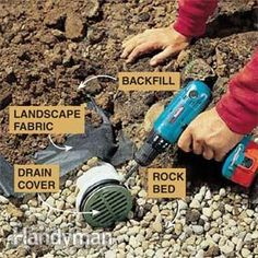 Stop dealing with water problems in your home and yard by installing this in-ground drainage system. This is a permanent, long-term solution to your wet yard. These step-by-step instructions and how-to photos walk you through the DIY installation. This project requires a lot of digging, but you won't have to deal with drainage issues ever again.