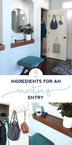 Quick Fixes To Make Your Entryway More Organized And Inviting For Guests.  Click Through To. Entryway IdeasStyling TipsHouse ...