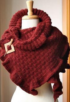 Elegant knitted wrap pattern by AtelierTPK on Etsy.