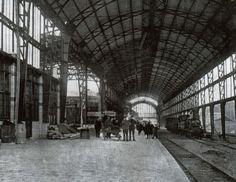 Station Haarlem omstreeks 1906 met het nieuwe overkapte perron - Serc