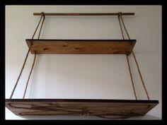 Handmade adjustable wooden shelves by IrisPyrisDesign on Etsy, $75.00