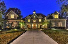 Same house lit up