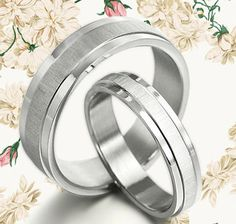 His and Her RINGS Handmade Wedding Titanium by MymomentJewelry, $149.00
