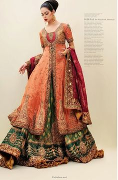 elegant wedding dress by nilofer shahid