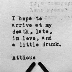 """Love Her Wild"" is out now, link in bio. xx #atticuspoetry #atticus #loveherwild #whiskey @laurenholub"