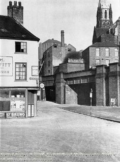Broad Marsh, Nottingham, c 1952 Looking towards Garners Hill and St. Mary's Church