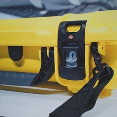 """Take a closer look... at our new lockable TSA latches. Now available on our new Nanuk 923 hard case. Perfect size to carry and protect your 15"""" Macbook Pro! #madeincanada #gearporn #nanuk923 #yellow #hardcase #nanukcase #nanukcases #hardcases #laptopcase #laptopcases #breifcase #portablecase #tsa #lockable #powerclaw #waterproof #shockproof"""