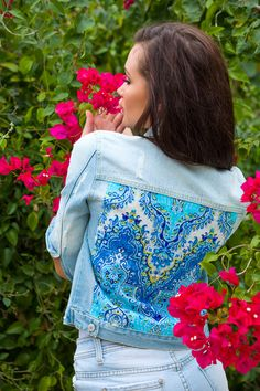 Embellished denim jacket Anna da Gala