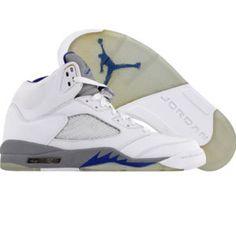 Air Jordan V White/blue/grey