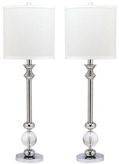 """Erica Candlestick 31"""" H Table Lamp with Drum Shade"""