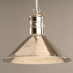 Deck Lamp pendant light in nickel