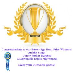 Winners of our Easter Egg Competition