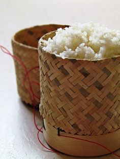 I grew up eating sticky rice which is sometimes called glutinous rice or sweet rice. It has denser and stickier texture than the regular rice. Sticky is commonly grown and consumed in the Northeast...