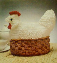 Five 5 Vintage Crochet Tea Cozy Patterns by MAMASPATTERNS on Etsy, $3.50