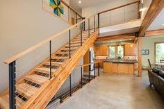 modern wooden staircase railing designs - Google Search