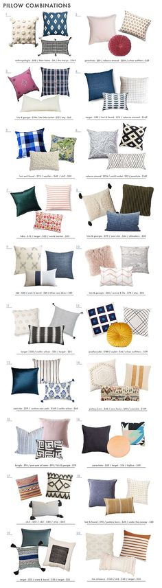 How to Mix Decorative Pillows (+ 20 guaranteed-to-look-good combinations)