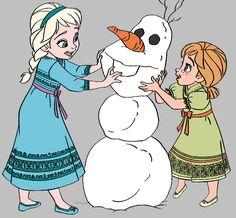 Frozen: Imágenes de Ana y Elsa. Clip Art.