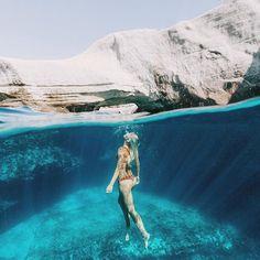 Caves & Deep Ocean Blues ࿊ Milos coastline is like no other