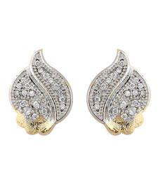 Buy Women Religious Brass Multicolor Stud Earring stud online