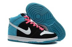 new style 534ba e3131 Womens Nike Dunk High SB Send Help Edition Black White Blue Reef Shoes For  Wholesale