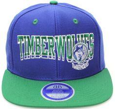 Minnesota Timberwolves Flat Bill Block Wave Style Snapback Hat Cap Blue Green NBA. $14.99