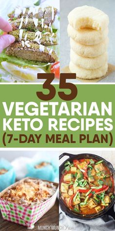 KETO VEGETARIAN RECIPES in a simple meal plan to give your meals variety for the week. Lots of healthy, low carb vegetables in your daily breakfast, lunch, dinner, snacks and dessert option. Different veggies and ingredients for beginners to try. Diet Meal Plans To Lose Weight, Low Carb Meal Plan, Ketogenic Diet Meal Plan, Ketogenic Diet For Beginners, Diet Plan Menu, Ketogenic Recipes, Diet Recipes, Food Plan, Tilapia Recipes