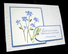 CAS Sympathy by Hambo - Cards and Paper Crafts at Splitcoaststampers